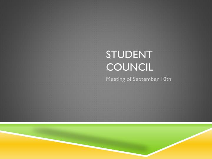 student council n.