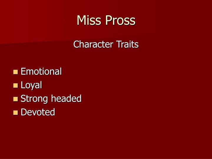 Miss Pross