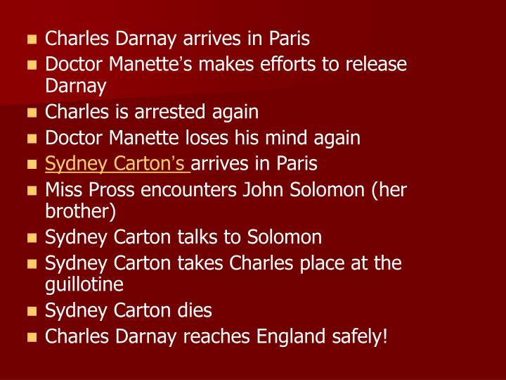 Charles Darnay arrives in Paris