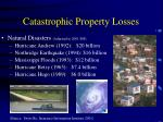 catastrophic property losses