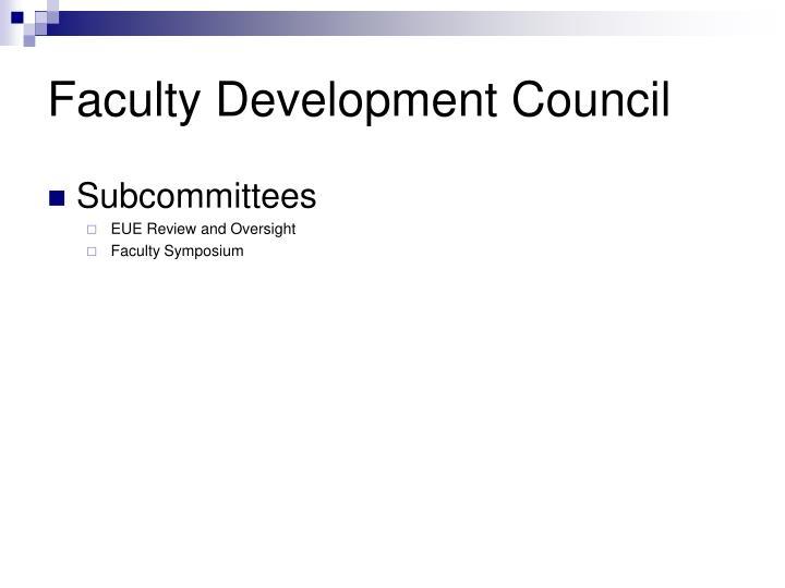 Faculty Development Council