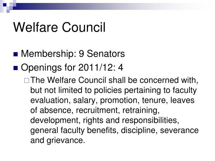Welfare Council