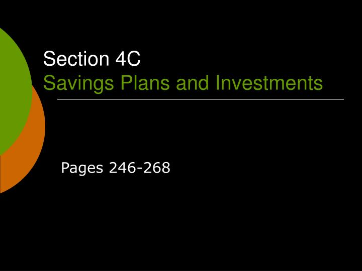 section 4c savings plans and investments n.