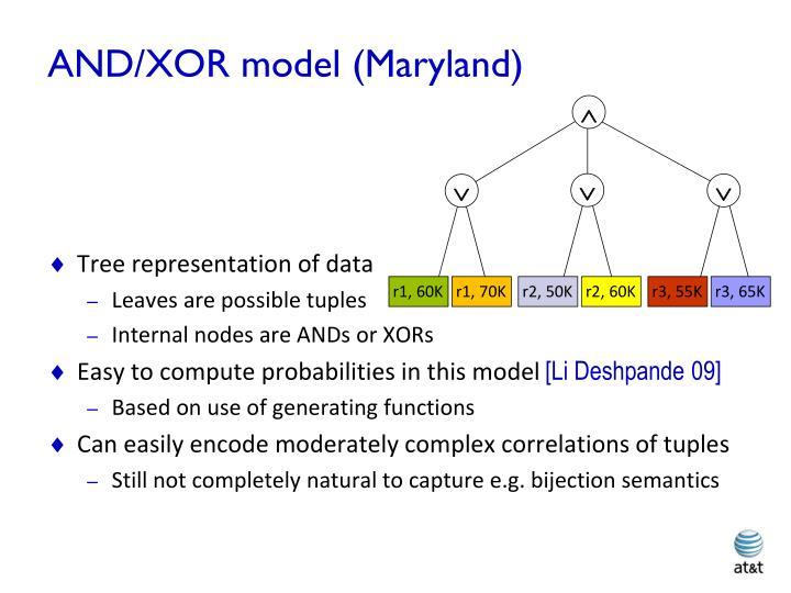 AND/XOR model (Maryland)