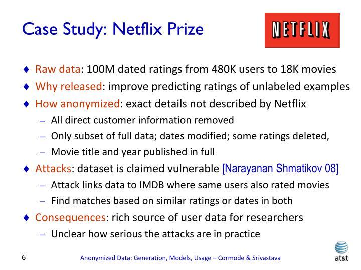 Case Study: Netflix Prize