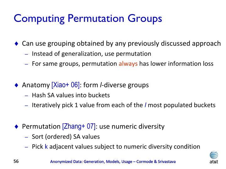 Computing Permutation Groups