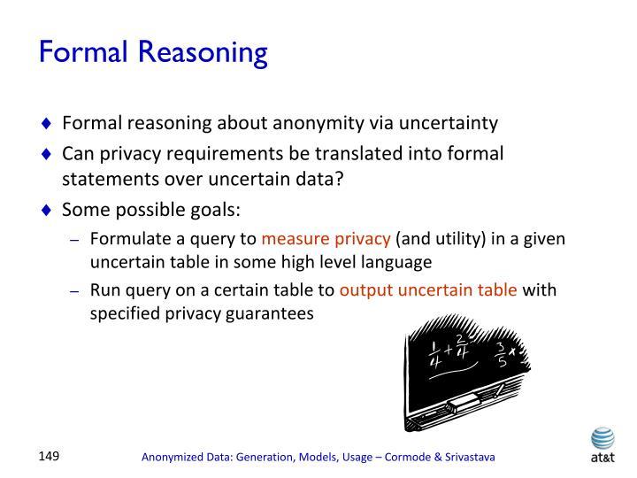 Formal Reasoning