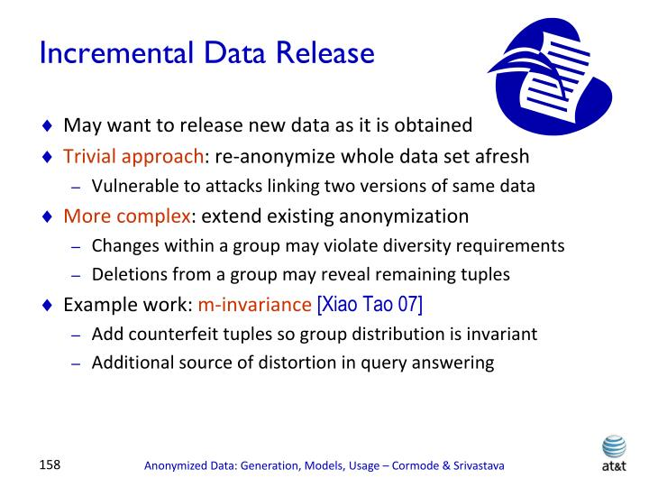 Incremental Data Release