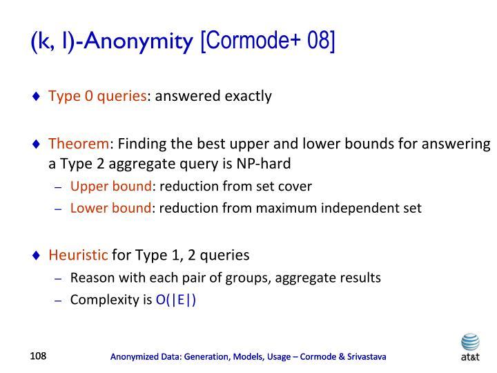 (k, l)-Anonymity