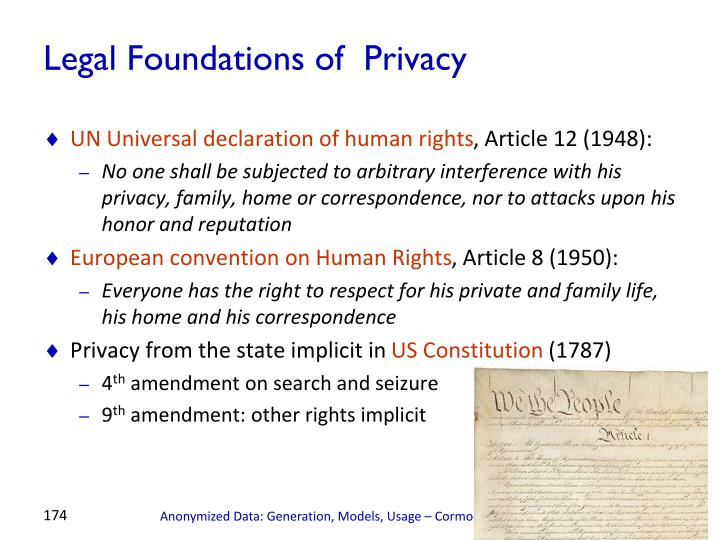 Legal Foundations of  Privacy