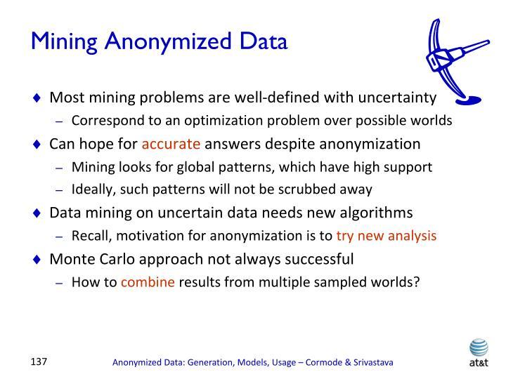 Mining Anonymized Data
