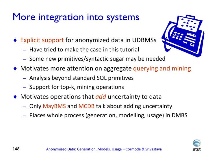 More integration into systems