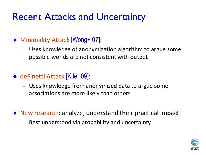 Recent Attacks and Uncertainty