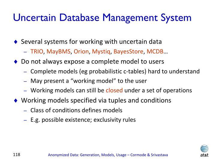 Uncertain Database Management System