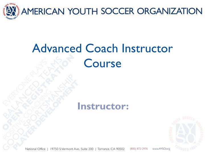 advanced coach instructor course n.