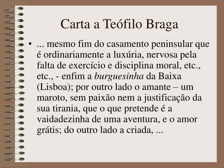 Carta a Teófilo Braga