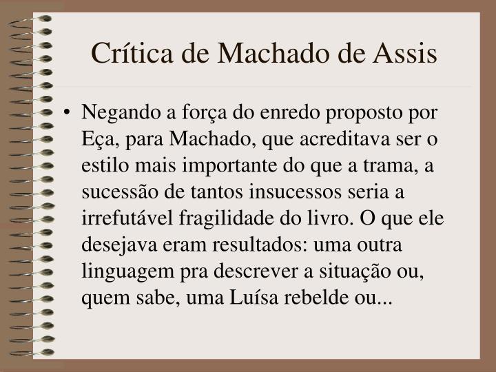 Crítica de Machado de Assis
