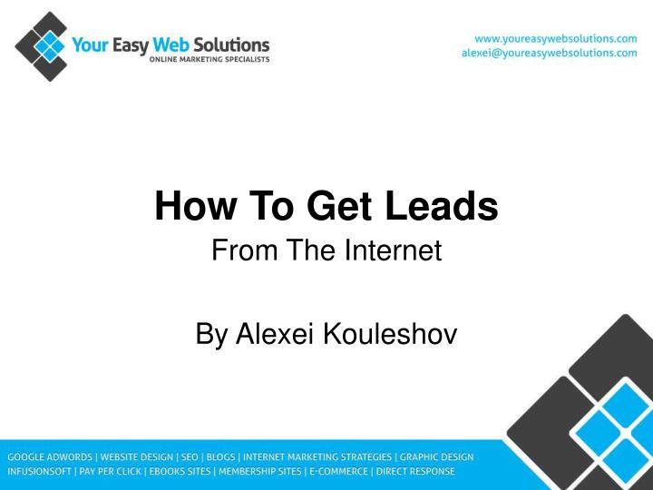 how to get leads n.