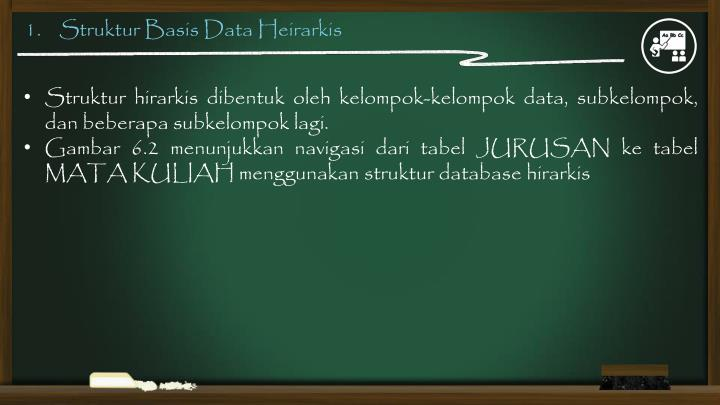 1.    Struktur Basis Data Heirarkis