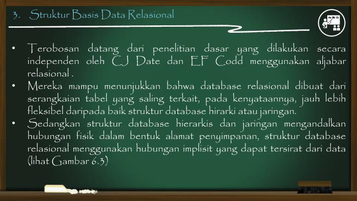 3.    Struktur Basis Data Relasional
