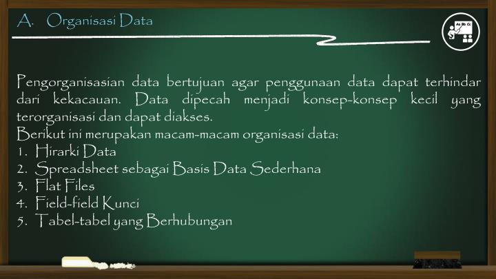 A organisasi data