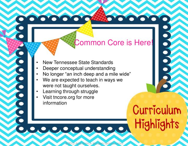 Common Core is Here!