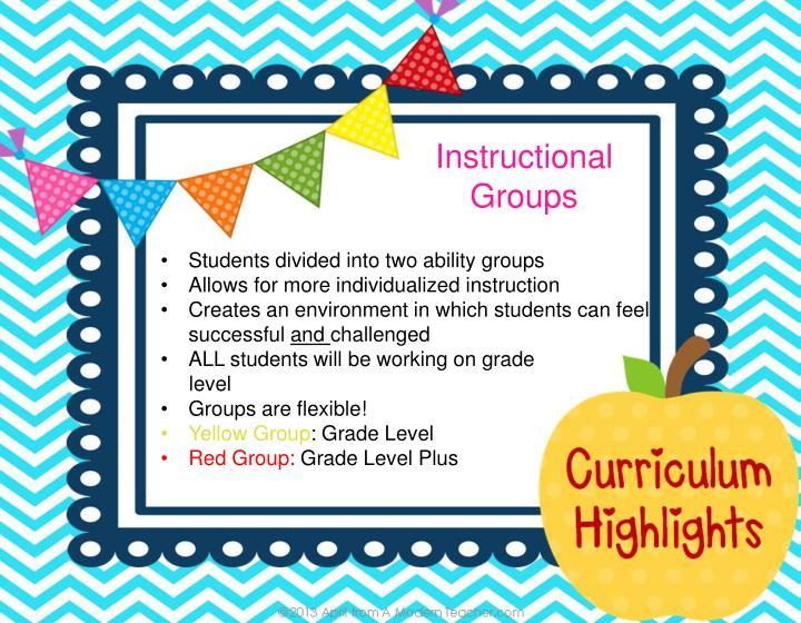 Instructional Groups