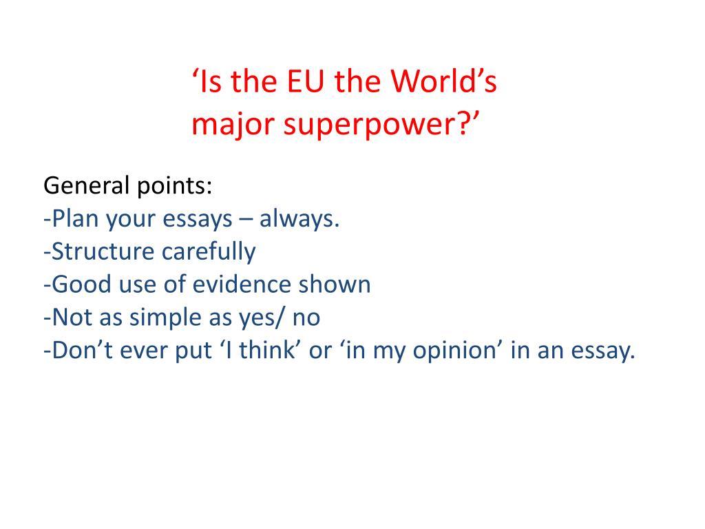 superpower essay
