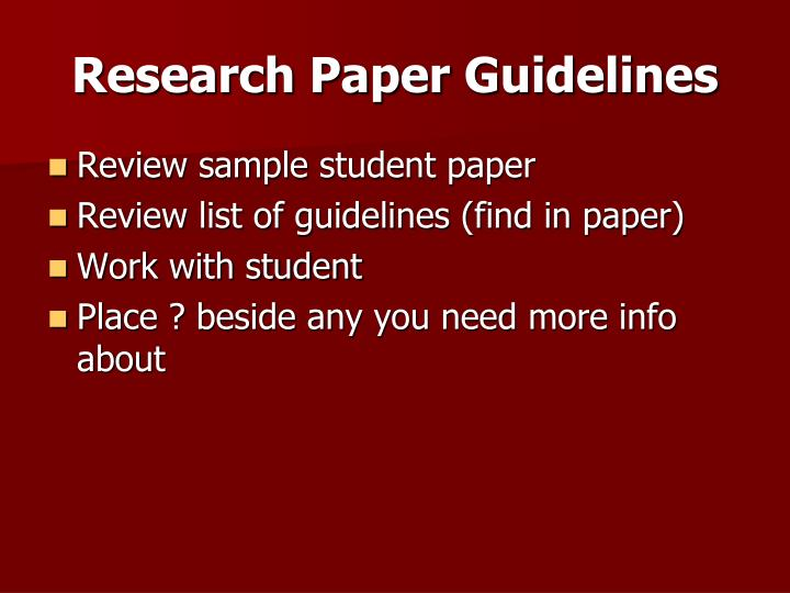 reviewing research papers Whether you end up reviewing a lot of papers as a phd student, your research will definitely be subject to the paper review process it is imperative as a researcher to understand this process it is imperative as a researcher to understand this process.