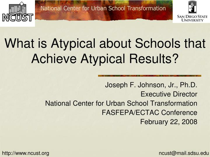 what is atypical about schools that achieve atypical results n.