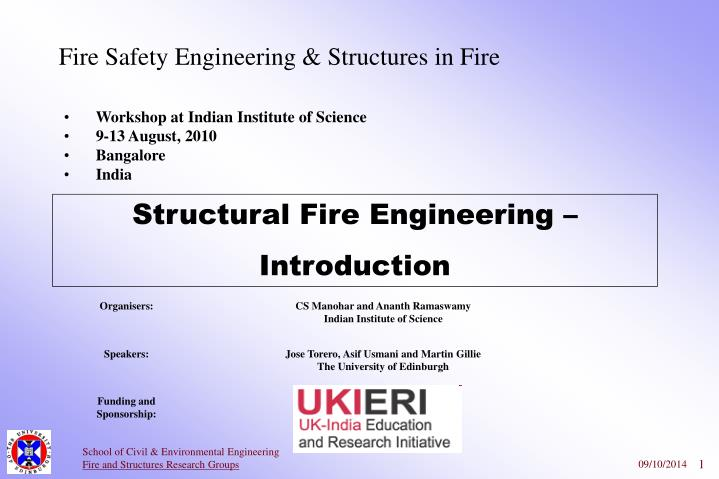 fire safety engineering structures in fire n.