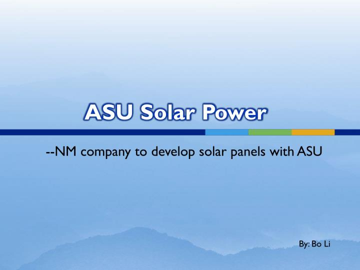 asu solar power n.