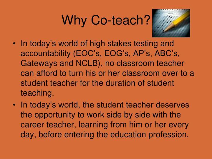 Why Co-teach?