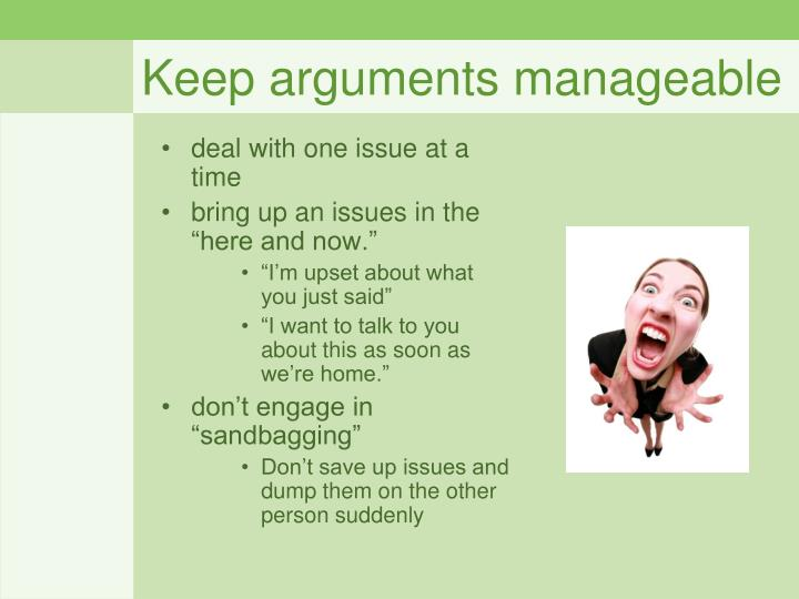 Keep arguments manageable