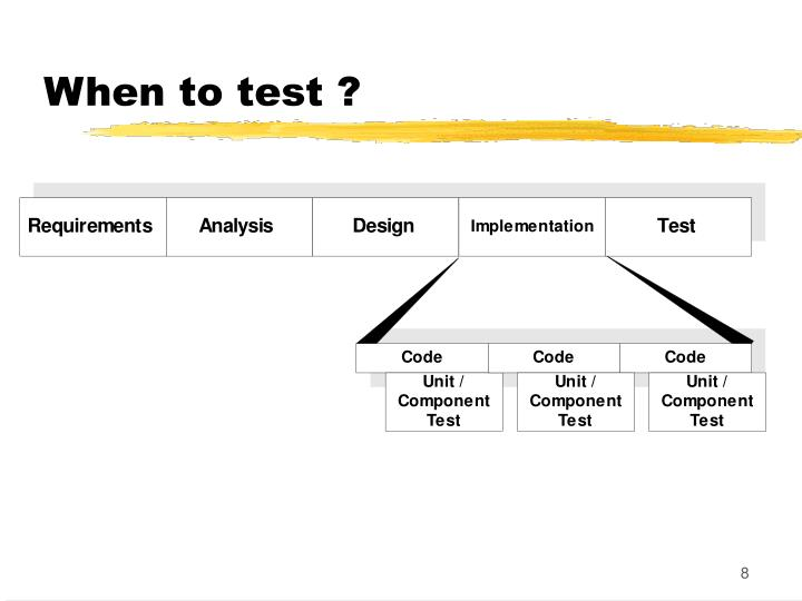 When to test ?