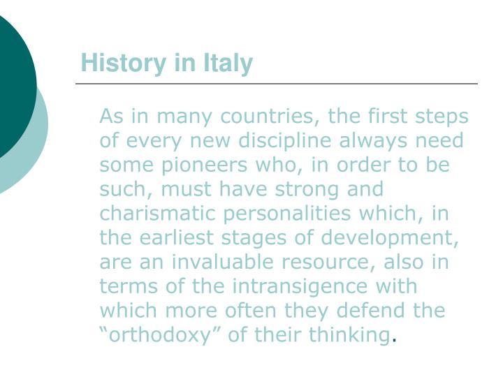History in italy