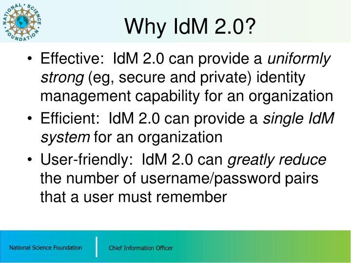 Why IdM 2.0?