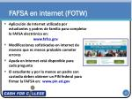 fafsa en internet fotw