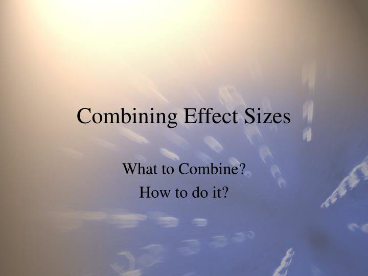 combining effect sizes n.