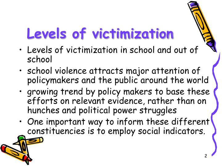 Levels of victimization