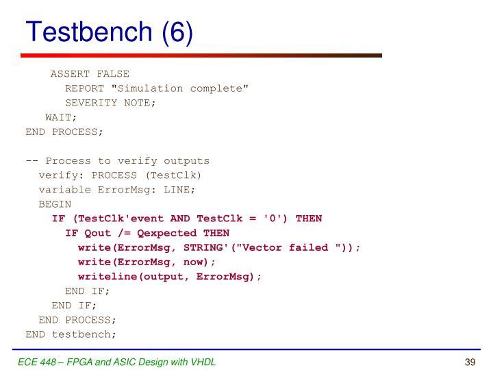 Testbench (6)