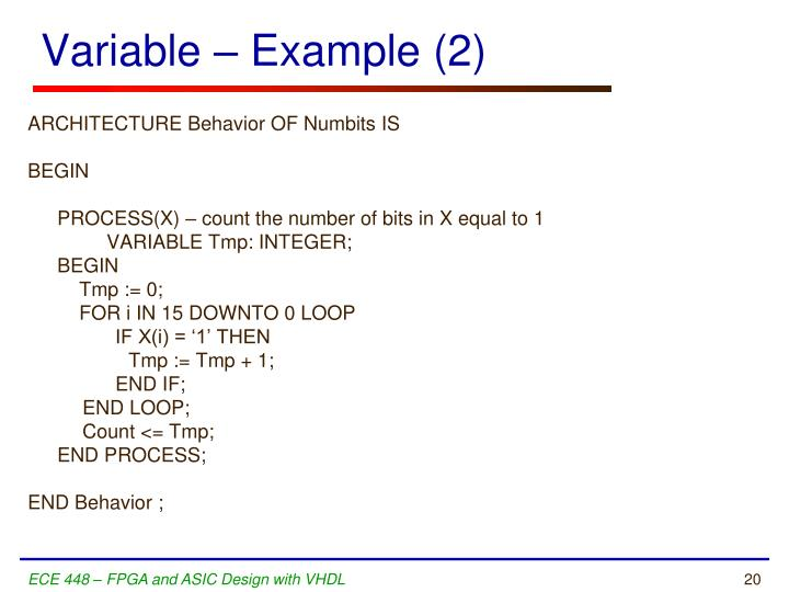 Variable – Example (2)