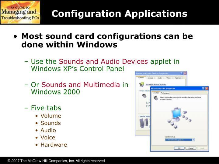 Configuration Applications