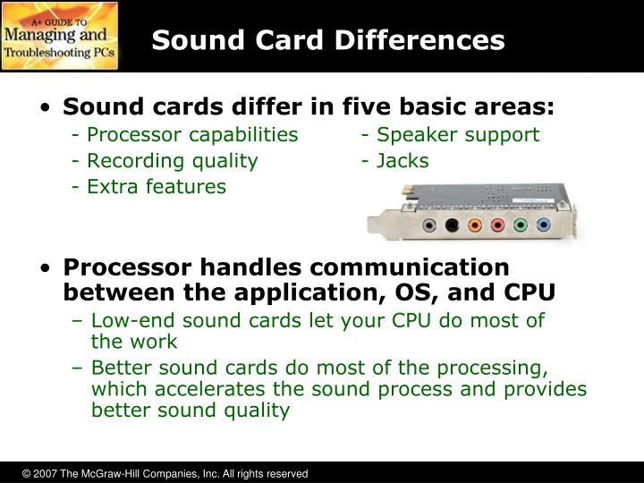 Sound Card Differences