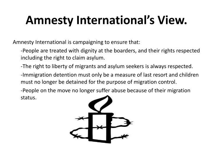 Amnesty international s view