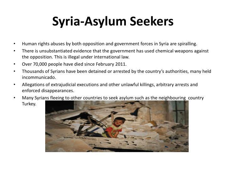 Syria-Asylum Seekers