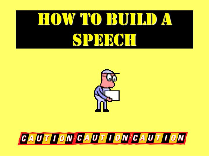 how to build a speech n.