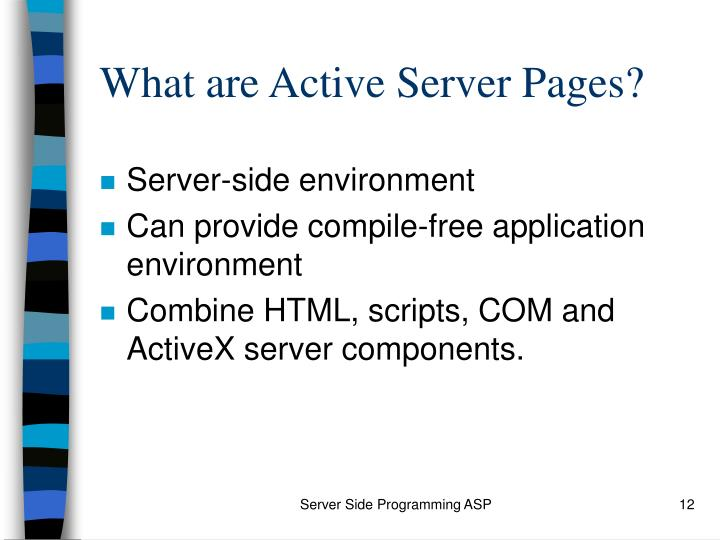 What are Active Server Pages?