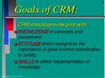 goals of crm