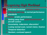 recognizing high workload